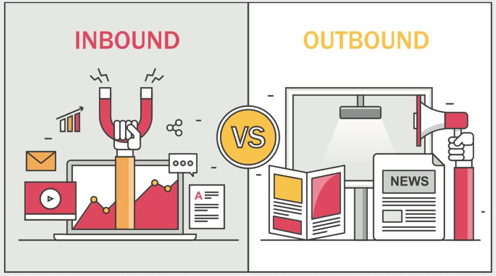 Inbound marketing versus outbound marketing Pic-Digital