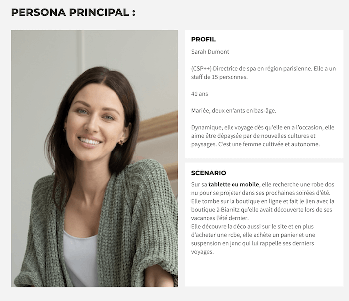 Un exemple de buyer persona par l'agence Pic-Digital